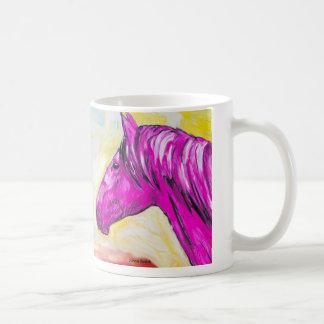 Gelbes und rosa Pferd Kaffeetasse