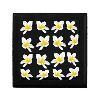 Gelbes und schwarzes Frangipani-Muster, Geschenkbox