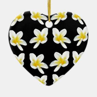 Gelbes und schwarzes Frangipani-Muster, Keramik Ornament