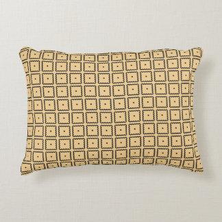 Gelbes und schwarzes Quadrat-Punkt-Muster Zierkissen