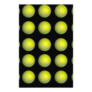 Gelbes und schwarzes Tennisball-Muster, Briefpapier