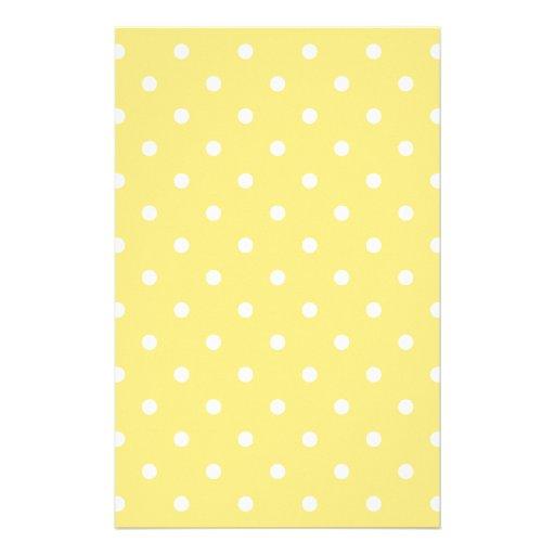 Gelbes und weißes Tupfen-Muster Individuelles Druckpapier