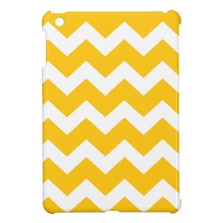 Gelbes und weißes Zickzack Zickzackmuster iPad Mini Hülle