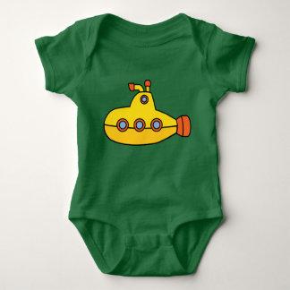 Gelbes Unterseeboot Baby Strampler