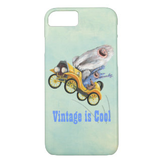 Gelbes Vintages Monster-Auto iPhone 8/7 Hülle