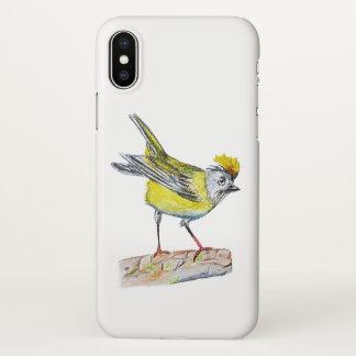 Gelbes Vogel kundenspezifisches iPhone X glatter iPhone X Hülle
