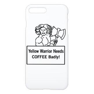 Gelbes warrioe benötigt Kaffee schlecht iPhone 8 Plus/7 Plus Hülle