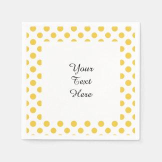 Gelbes weißes Tupfen-Muster Serviette