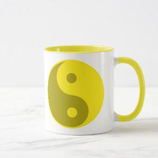 Gelbes Yin Yang Tasse