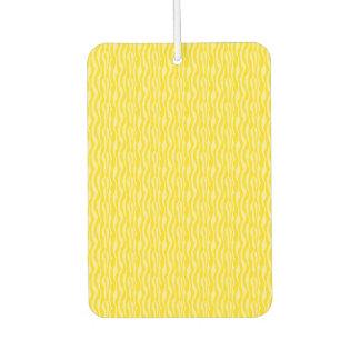Gelbes Zebra-Druck-Muster Autolufterfrischer