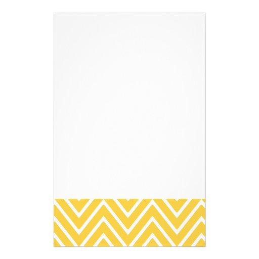 Gelbes Zickzack Muster 2 Druckpapiere