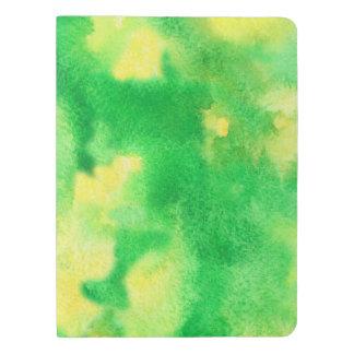 Gelbgrün-Aquarell-großes Extranotizbuch Extra Großes Moleskine Notizbuch