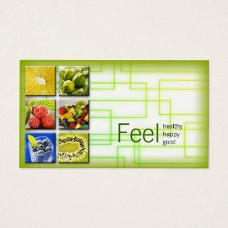 Gelbgrün-quadratisches gesundes visitenkarte