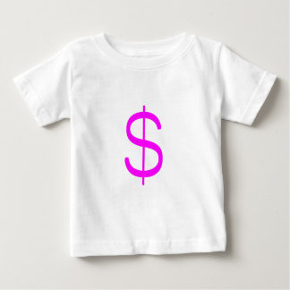 Gelbgrün-Rosa des Dollar-Sign$ Baby T-shirt