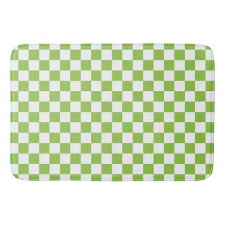 Gelbgrün-Schachbrett-Muster Badematte