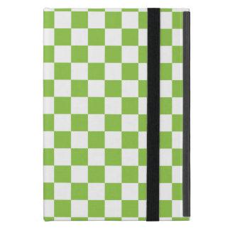 Gelbgrün-Schachbrett-Muster Etui Fürs iPad Mini