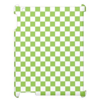 Gelbgrün-Schachbrett-Muster iPad Hülle