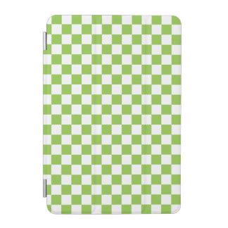 Gelbgrün-Schachbrett-Muster iPad Mini Cover
