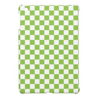 Gelbgrün-Schachbrett-Muster iPad Mini Hülle