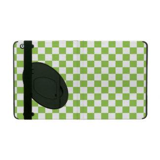 Gelbgrün-Schachbrett-Muster iPad Schutzhülle