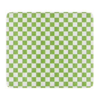 Gelbgrün-Schachbrett-Muster Schneidebrett