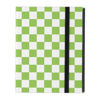 Gelbgrün-Schachbrett-Muster Schutzhülle Fürs iPad