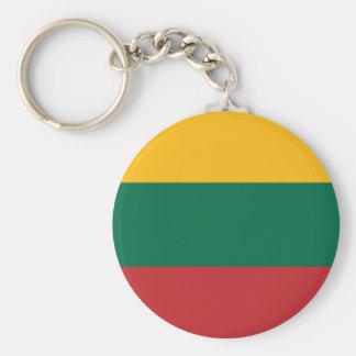 Gelbgrün und rote Fahne von Litauen Schlüsselanhänger