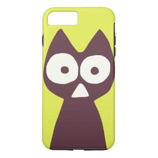 Gelbliches Grün lila Dreieck-symbolische Katze iPhone 8 Plus/7 Plus Hülle