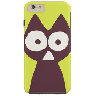 Gelbliches Grün lila Dreieck-symbolische Katze Tough iPhone 6 Plus Hülle