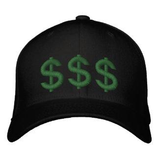 Geld auf meinen Sinnesdollar-Zeichen stickte Hut