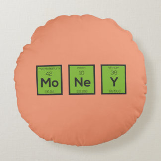 Geld-chemisches Element lustiges Z3z08 Rundes Kissen