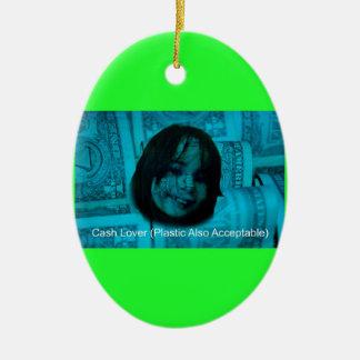 Geld-Gesicht des Bargeld-Liebhaber-(Plastik auch Ovales Keramik Ornament