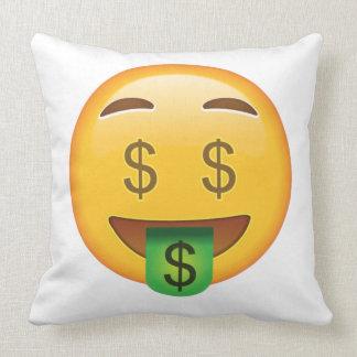 Geld-Gesicht - Emoji Kissen