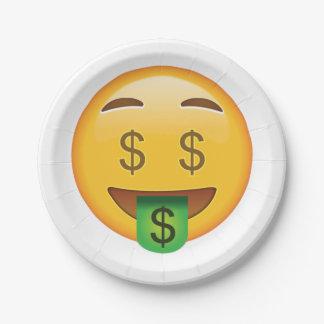 Geld-Gesicht - Emoji Pappteller