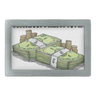 Geld ist die bewegende Sammlung Rechteckige Gürtelschnallen