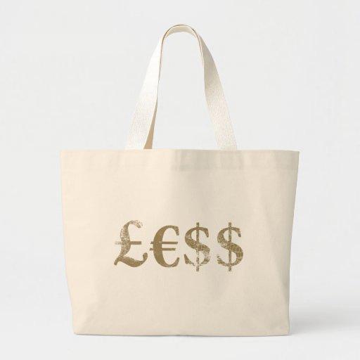 Geld ist kleiner wert leinentaschen