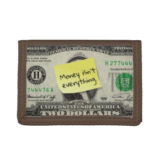 Geld ist nicht alles auf Post-it/US 2 Dollarschein