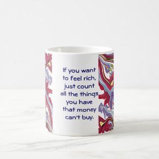 Geld kann nicht kaufen kaffeetasse