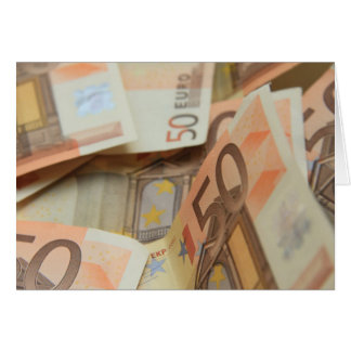 Geld-Kunst des Euro-fünfzig Karte