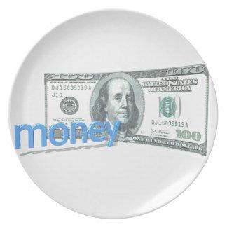 Geld Melaminteller