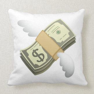 Geld mit Flügeln - Emoji Kissen