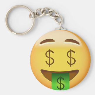 Geld-Mund Gesicht Emoji Schlüsselanhänger