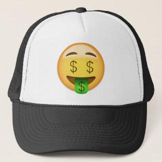 Geld-Mund Gesicht Emoji Truckerkappe