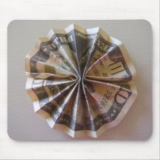 Geld Origami Rosette Mousepad