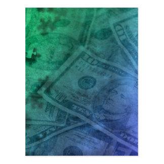 Geld-Puzzlespiel Postkarte