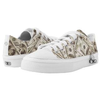 Geld-Reißverschluss-Schuhe Niedrig-geschnittene Sneaker