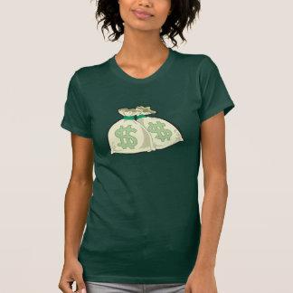 Geld sackt den T - Shirt der Frauen ein