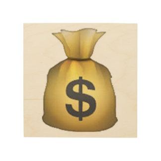 Geld-Tasche - Emoji Holzwanddeko