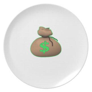 Geld-Tasche Flache Teller