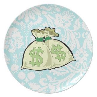 Geld-Taschen; Niedlich Flache Teller